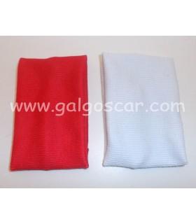 Corbatines galgo. Juego de pañuelos blanco y rojo. 5€ la pareja.