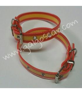 Collar  biothane 20mm largo 37cm c/ bandera de España
