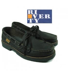 Zapato naútico mocasin lazo. Linea apache