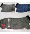 Manta abrigo para galgo rombos cuello alto, impermeable, verde, gris o azul. Talla XL