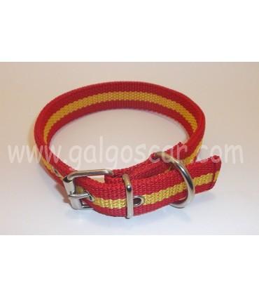 Collar perro  nylon doble 25mm largo 45cm c/ España