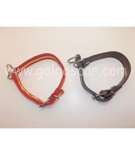 Collar  cuero vaquetilla, de castigo regulable  25mm largo 46cm
