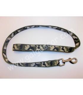 Ramal nylon camuflaje para un perro mosqueton gatillo