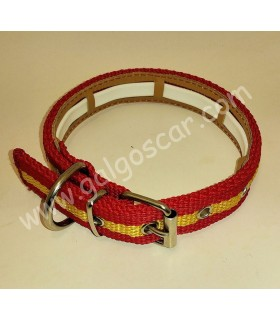 Collar perro  nylon España con funda para collar antiparasitos