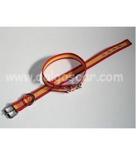 Collar  nylon simple 25mm largo 45cm c/ España