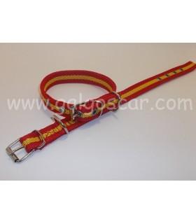 Collar  nylon doble 20mm largo 45cm c/ España