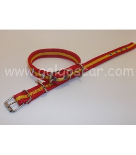 Collar  nylon doble 20mm largo 37cm c/ España