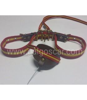 Trailla para galgo, doble giratoria nylon