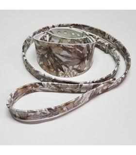 Collar antiescape Ecoleather  flores marrón para galgo ó whippet,